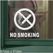 1 x No Smoking-WINDOW Stickers with Text-Self Adhesive Warning Signs-Health and Safety-Home,Office,Premises,Factory